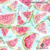 Produktbild. Badeanzug Stoff mit Melonen
