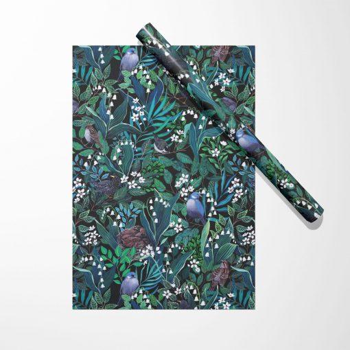 Produktfoto. Birds & Blossoms Geschenkpapier
