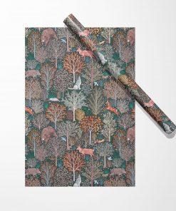 Produktfoto. Forest Animals Geschenkpapier