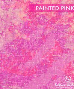 Produktbild. Pinker Stoff mit Farbklecksen.
