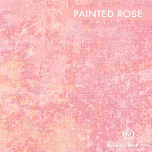 Produktbild. Rosafarbener Stoff mit Farbklecksen.